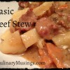 Dutch Oven Basic Beef Stew Recipe