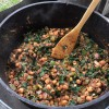 Chickpea Stew with Spinach and Almonds