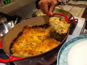 Serving Potato Apple Gratin