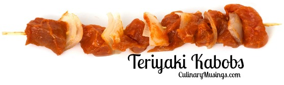 Teriyaki Kebabs - Chicken or Beef - CulinaryMusings.com