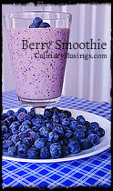 Wake Up  with this easy blueberry smoothie recipe!