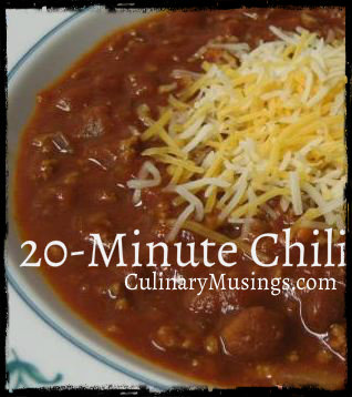 Easy 20 Minute Chili Recipe