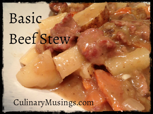 Basic Dutch Oven Beef Stew Recipe