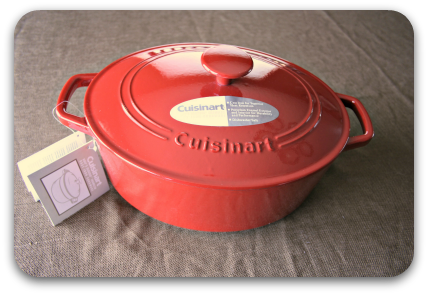 5.5 quart oval Cuisinart dutch oven