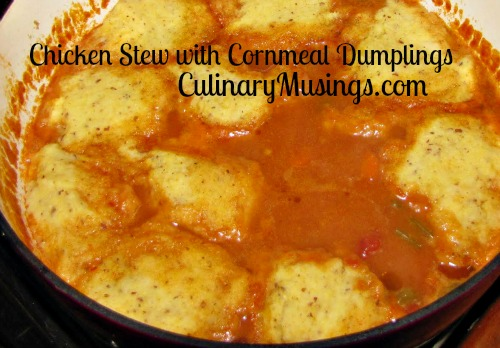 chicken stew cornmeal dumplings