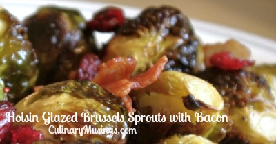 Hoisin Glazed Brussels Sprouts with Bacon