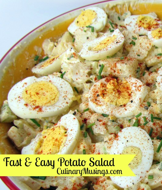 Fast Easy Potato Salad Recipe Culinarymusings Com