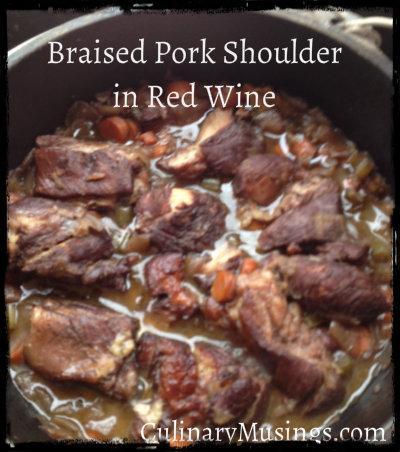 Braised Pork Shoulder in Red Wine