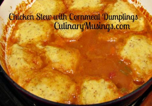 chicken stew cornmeal dumplings